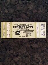 Herbert Hubert Laws 1979 Unused Concert Ticket Portland Oregon Paramount