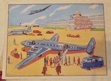Set de Table Poster Affiche Print  Dinky Toy Caravelle F-BGNA Air France Tube