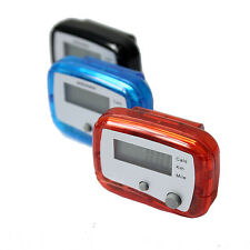 LCD Pedometer With Clip - Digital Electronic Walking Distance Step Counter