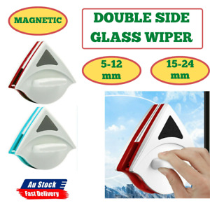 Magnetic Window Double Side Glass Wiper Cleaner Surface Cleaning Brush 5-24mm