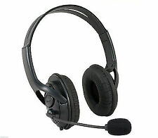 Black Deluxe Headset Headphone With Microphone for Xbox 360 Live UK SELLER
