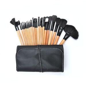 24PCS Makeup Brushes Cosmetic Powder Foundation Pencil Brushes & PU Leather Bag
