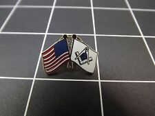 "BRAND NEW Lapel Pin ""MASONIC AND USA FLAG"" ENAMELED LIFETIME GUARANTEE MASON"