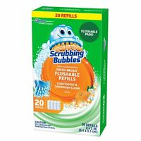 Scrubbing Bubbles Fresh Brush Toilet Cleaning System Flushable Refill - 20ct