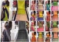 New Bollywood Cotton Silk Saree Bridal Wedding Party Wear Sari Traditional  RV