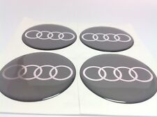 AUDI Autocollant Sticker Centre de Roue Cache Moyeu Jante Silicone 4 x 60mm