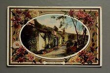 R&L Postcard: Beautiful Cottage Garden Scene, Nature's Bounty 1910 Flower Border