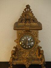 Pendule horloge en bronze doré époque Napoléon III