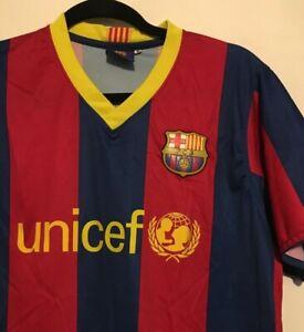 Barcelona Replica Football Shirt Mens size Medium Unicef David Villa No. 7