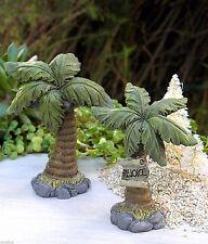 Miniature FAIRY GARDEN ~ Holy Nativity CHRISTMAS Set of 2 Palm Trees REJOICE
