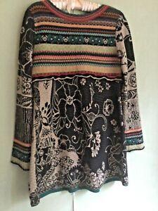 IVKO sample SERBIAN 100%WOOL JERSEY LONG SLEEVE SHORT DRESS SIZE M SEE BACK!