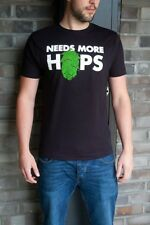 Needs More Hops Black Craft Beer T-Shirt - Swally Shirts - Size M - 75% OFF!