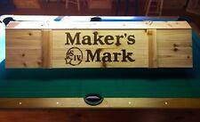 "New Makers Mark Pool Table Poker Wood Billiards Light 52"""