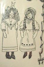 "Kristine Ann's cloth doll pattern & clothes 24"" Rebecca"