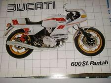 DUCATI  600 TL   PANTAH  (depliant-prospekt-brochure)