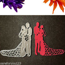 Bride Groom Wedding Die Cutting Dies Stencils DIY Scrapbooking Card Paper Craft