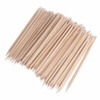 100Pcs Wooded Nail Art Cuticle Pusher Sticks Pro DIY Manicure Pedicure Nail C…