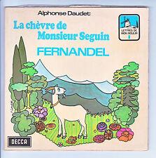 "FERNANDEL Vinyle 45T 7"" EP LA CHEVRE DE Mr SEGUIN pochette-livre DECCA 27001"