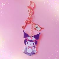 Cute Anime Kuromi Key Chain Pendant Bag Car Keyring Keychain Girls Gift