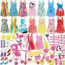 114 Pcs Fits Barbie Doll Party Clothes Gowns Outfits Accessories Shoes,.. Lot 2