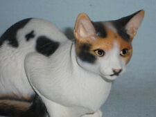 Vintage Rare Le North Light Hand Painted Lying Calico Kitty Cat 1990s England