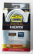 New White Panasonic RP-CDHG50 High Speed HDMI V.1.3a 1080p Cable 16.4ft 5m Viera
