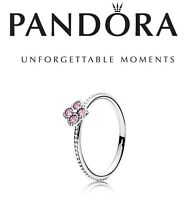 Pandora Silver Pink Oriental Blossom Ring