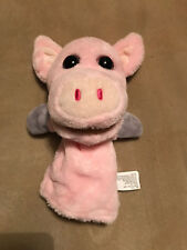 """Kelly Toy Farmyard Friends Pig Hand Glove Puppet 11"""" Brand New Play Therapy"""