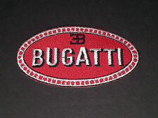 MOTORSPORTS MOTOR RACING SEW/IRON ON PATCH:- BUGATTI