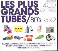 LES PLUS GRANDS TUBES 80's VOLUME 2 - 4 CD 60 TITRES - NEUF ET SOUS CELLO