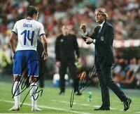 Foto Autografo Calcio Roberto Mancini Federico Chiesa Soccer Coa Signed Sport
