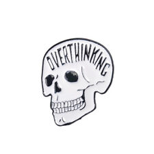 Skeleton Punk Pirate Skull Enamel Brooch Pin Shirt Denim Jacket Pins Badge