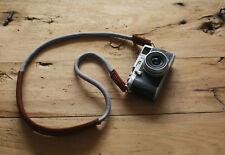 Windmup Shoulder pad brown leather gray Climbing rope handmade Camera strap