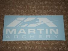 White Martin Archery Decal (Nice)