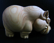 TB201 - 7X4X3.5CM Carved Boxwood Carving Figurine : Hippo