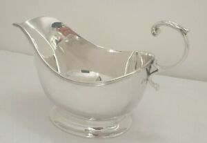 Solid Sterling Silver Art Deco Sauceboat - Birm 1939