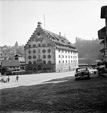 SUISSE c. 1955 - Auto Caserne de la Planche Fribourg - Négatif 6 x 6 - Sui 81