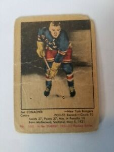 1951-52 parkhurst Jim Conacher #105
