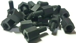 eXXtreme CPU (M3) Nylon Motherboard Mounting screws 6mm/6mm Black - 20 Pack