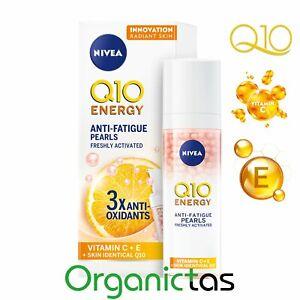 NIVEA Q10 ENERGY Anti-Wrinkle Pearls 30ml 3x Antioxidants Vitamin C + E Anti-Age