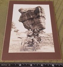 "5X7"" Antique MEXICO VACATION Photo Gallery Paper Frame Scrapbook Photo BIG ROCK"