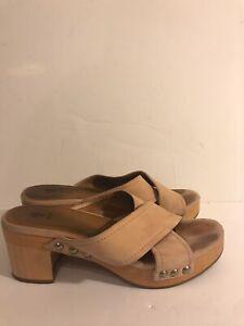 Frye Open Toe Pink Clogs Sandals 8.5