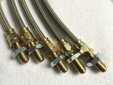 Stainless steel braided brake line kit ( 4 lines ) VW Golf mk1 and Scirocco