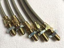 ACCIAIO Inossidabile Intrecciato Del Freno Linea Kit (4 Righe) SUZUKI SJ413 4x4 1989 su