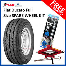 "Fiat Ducato 1994 - 2014  Full Spare Wheel 15"" and 215/70R15 C Tyre + Tool Kit"