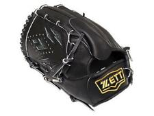 ZETT Pro Elite 12 inch Black Left Hand Throw Baseball Pitcher Glove + BONUS