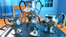 Early 1900 Homan Quad Silver Plate Coffee/Tea Urn Sugar Bowl Creamer & Tray Set