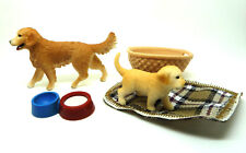 O14) SCHLEICH 16395 Golden Retriever Con Cachorro y cestita SCHLEICH animal