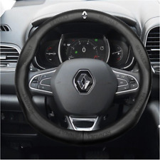 38CM Car Steering Wheel Cover For Renault Black Leather Skidproof Nice
