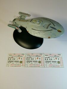 NO MODEL - Star Trek Starships EAGLEMOSS USS VOYAGER INTREPID CLASS DECALS